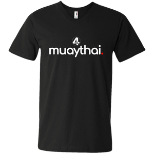 """muaythai."" 2018 Black V-Neck T-Shirt"