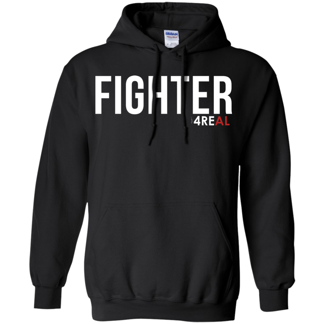 FIGHTER Black Sweatshirt - 4REAL