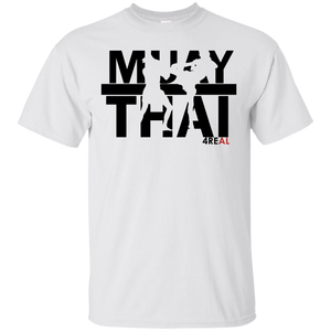 4REAL MUAY THAI White T-Shirt - 4REAL