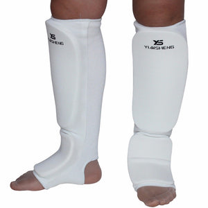 Cotton White Shin Guards - 4REAL