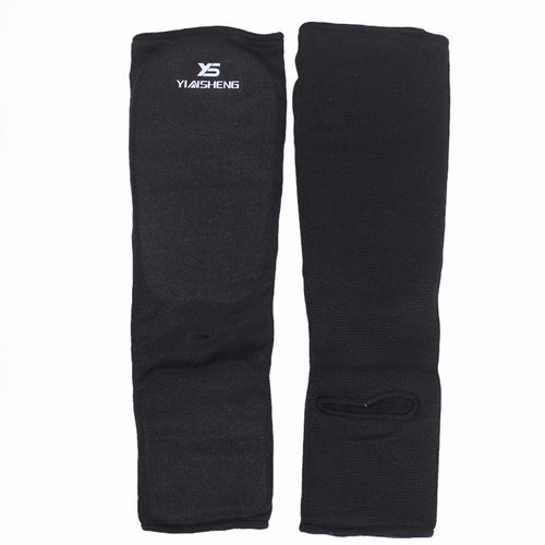Cotton Black Shin Guards - 4REAL
