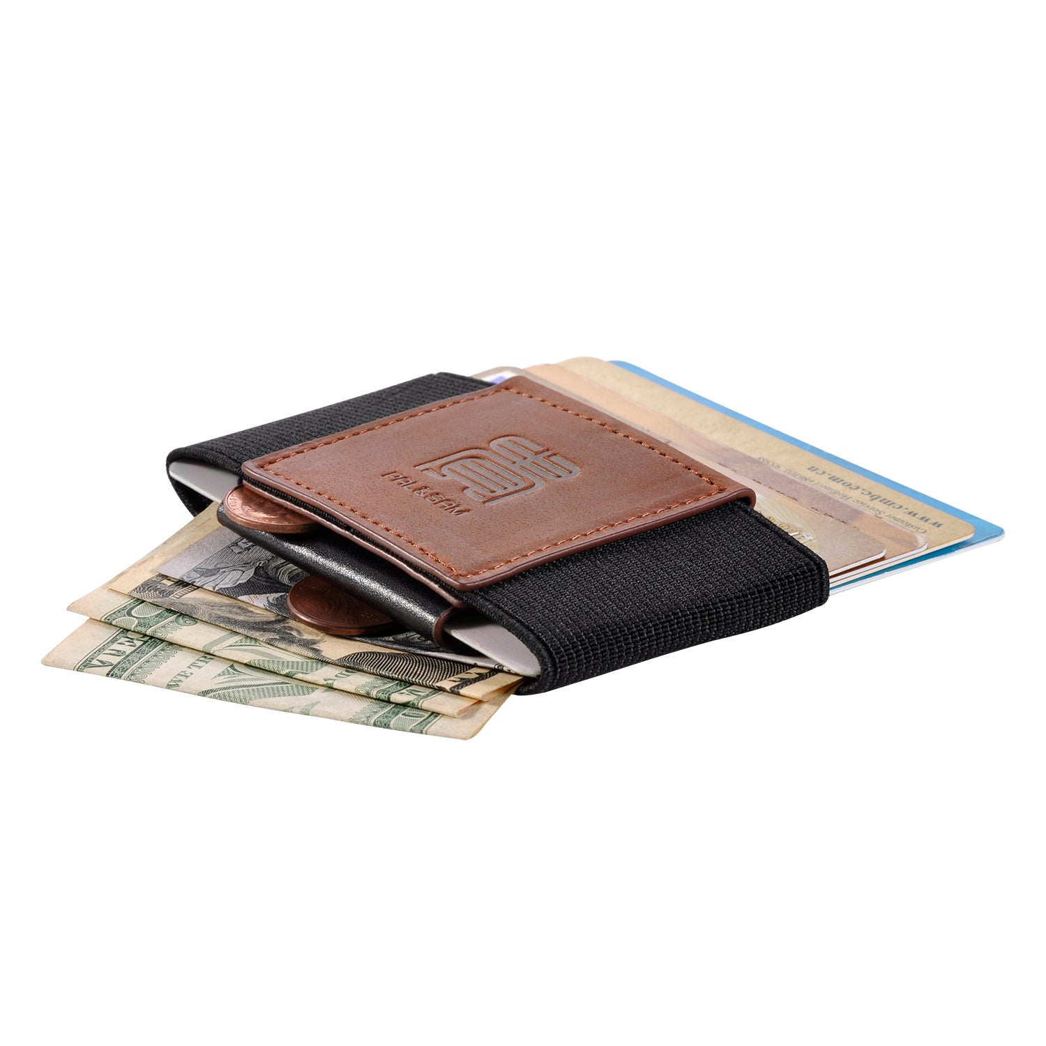 Front Pocket Minimalist EDC Slim Wallet 15 Card Holders for Men Cash Coins Ke HI