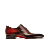 Height Increasing Reddish Brown Leather Cobar Oxfords Shoes