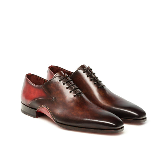 Red & Brown Leather Cobar Oxfords Shoes