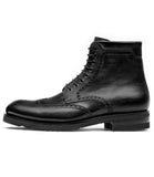 Black Leather Rennes Chunky Derby Boots