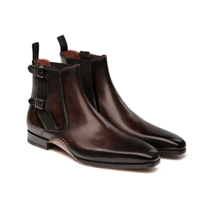 Brown Leather Forster Boots Shoes