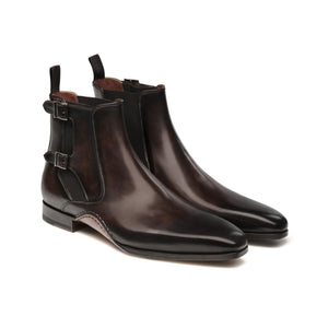 Flat Feet Shoes - Brown Leather Forster Boots Shoes with Arch Support