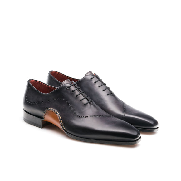 Black Leather Camden Oxfords Shoes