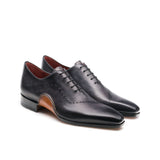 Height Increasing Black Leather Camden Oxfords Shoes