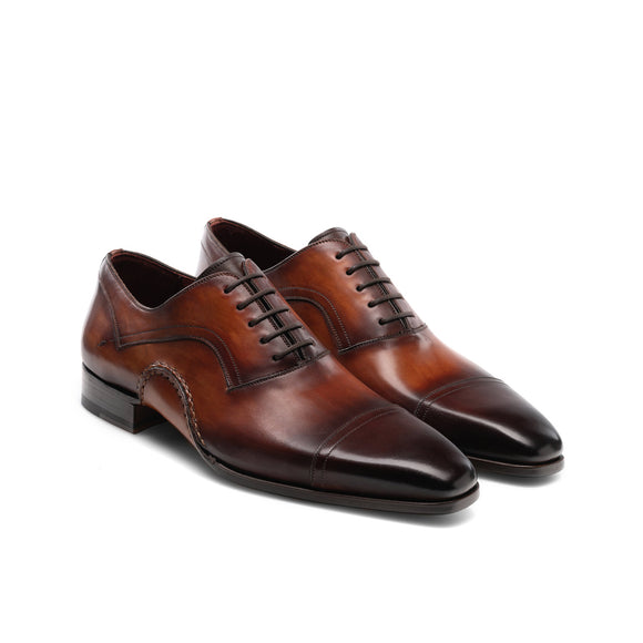 Brown Leather Byron Bay Oxfords Shoes