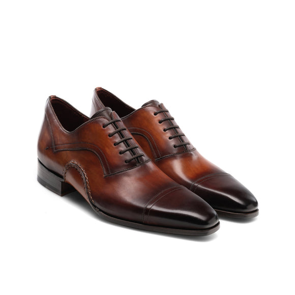 Height Increasing Brown Leather Byron Bay Oxfords Shoes