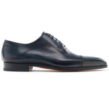 Flat Feet Shoes - Navy Blue Leather Crofton Brogue Oxfords with Arch Support