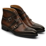 Brown Leather Cosham Monk Strap Boots