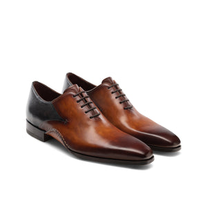 Height Increasing Black & Tan Leather Bowral Oxfords Shoes