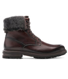 Brown Leather Avigon Chunky Derby Boots