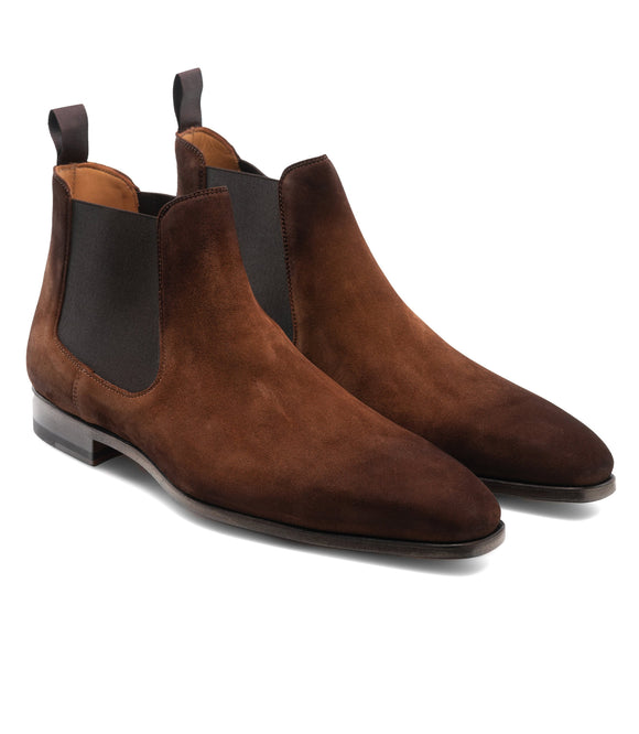 Flat Feet Shoes - Tan Suede Toulouse Chelsea Boots with Arch Support