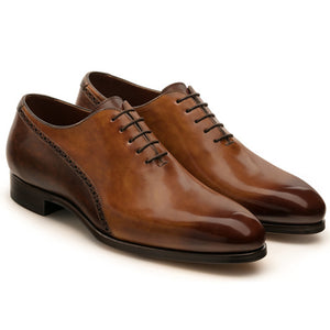 Tan & Brown Leather Darien Brogue Oxfords