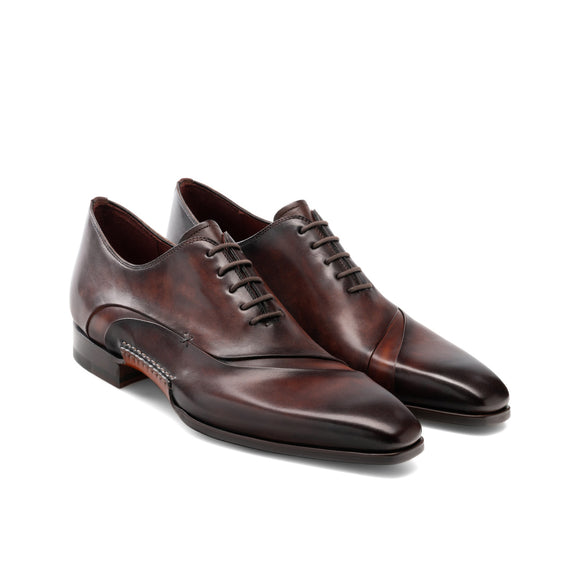 Height Increasing Brown Leather Coonamble Oxfords Shoes