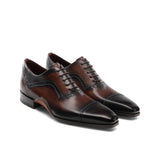 Height Increasing Brown Leather Bega Oxfords Shoes