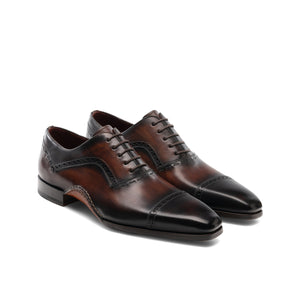 Brown Leather Bega Oxfords Shoes