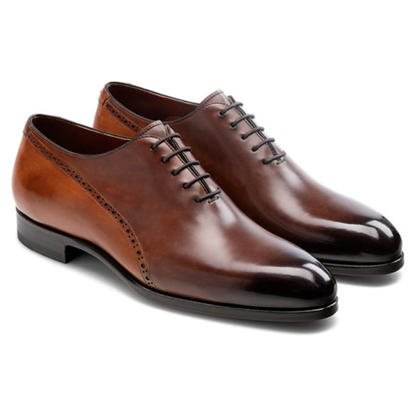 Brown & Tan Leather Darien Brogue Oxfords