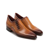 Height Increasing Brown Leather Balranald Oxfords Shoes