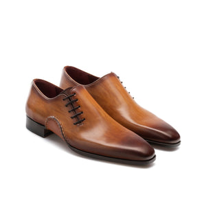 Flat Feet Shoes - Brown Leather Balranald Oxfords Shoes with Arch Support