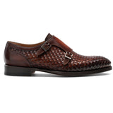 Brown Braided Leather Holloway Monk Straps