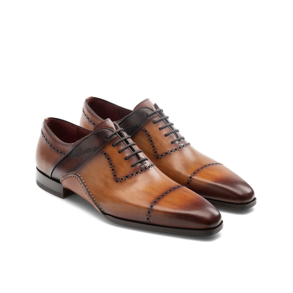 Tan Leather Canberra Oxfords Shoes