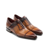 Height Increasing Tan Leather Canberra Oxfords Shoes