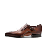 Height Increasing Brown Leather Victoria Monk Straps Shoes