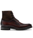 Flat Feet Shoes - Brown Leather Amines Chunky Derby Boots with Arch Support