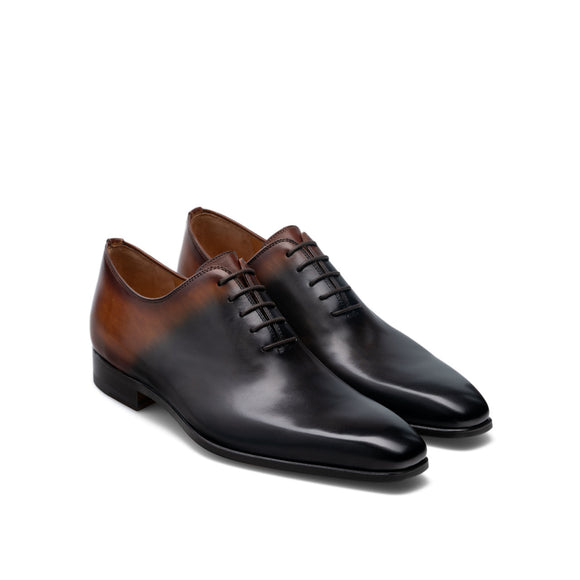 Height Increasing Black & Brown Leather Tasmania Oxfords