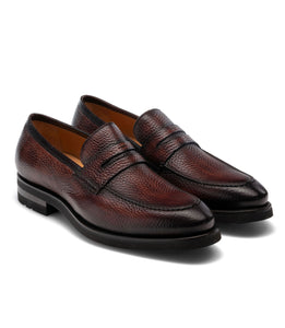 Flat Feet Shoes - Brown Leather Montreal Chunky Loafers with Arch Support