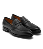 Black Leather Joliette Loafers