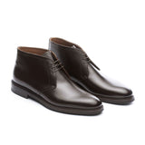 Height Increasing Brown Leather Exeter Lace Up Chukka Boots