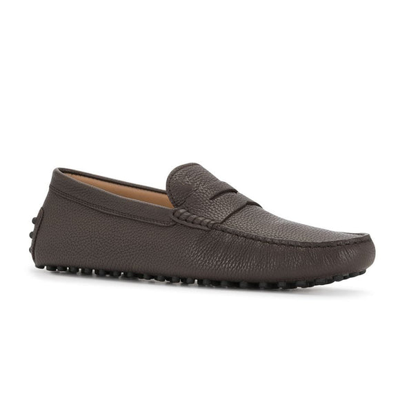 Brown Leather Burgos Driving Loafers