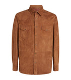 Tan Suede Corse Shirt Jacket