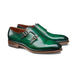 Green Leather Castle Monk Straps
