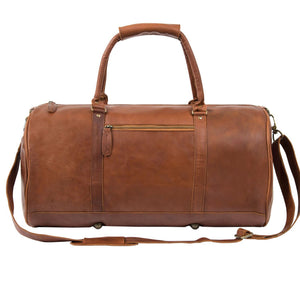 Black Leather Badcoe Duffel Bag