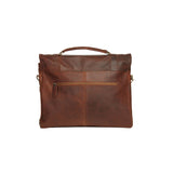 Brown Leather Colton Messenger Bag