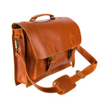 Brown Leather Elder Messenger Bag