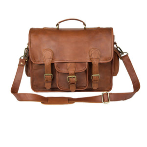 Brown Leather Croydon Messenger Bag