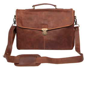 Brown Leather Frome Messenger Bag