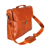 Brown Leather Florey Messenger Bag
