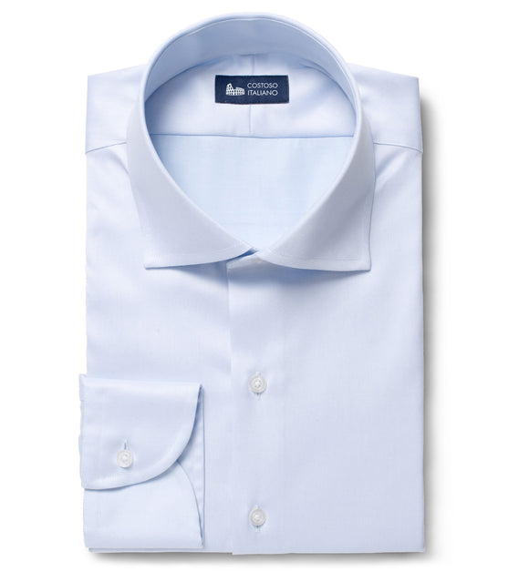 Light Blue Cotton Broadcloth Medway Business Shirt