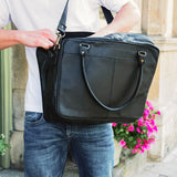 Black Leather Kaurna Messenger Bag