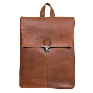Brown Leather Lee Backpack Bag