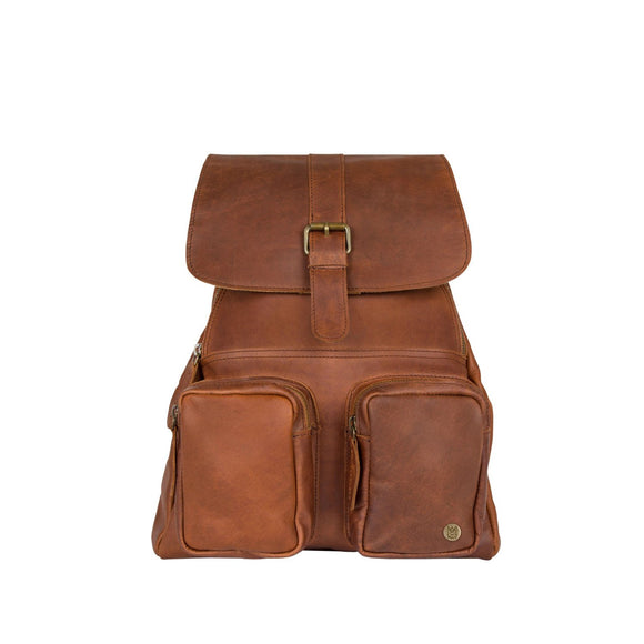 Brown Leather Morialta Backpack Bag
