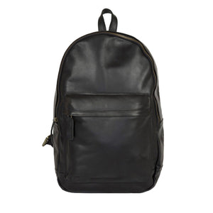 Black Leather Mount Gambier Backpack Bag